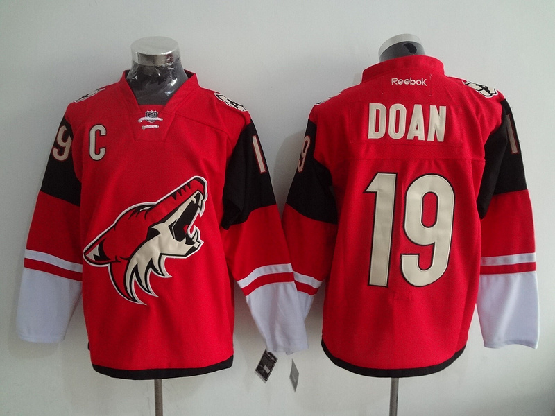 2016 NHL Phoenix Coyotes 19 Doan Red Jerseys