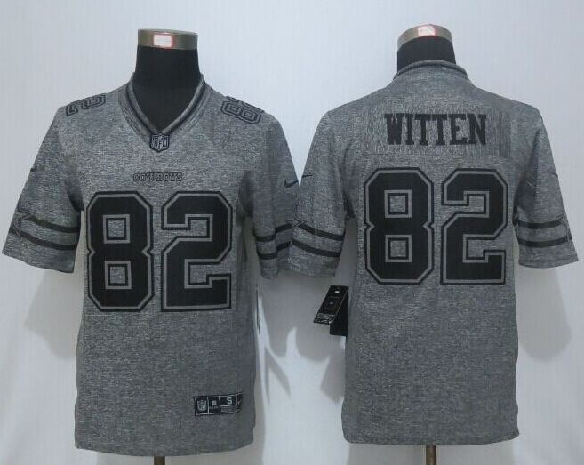 2016 New Nike Dallas Cowboys 82 Witten Gray Men's Stitched Gridiron Gray Limited Jersey