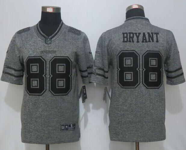 2016 New Nike Dallas Cowboys 88 Bryant Gray Men's Stitched Gridiron Gray Limited Jersey