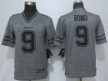 2016 New Nike Dallas Cowboys 9 Romo Gray Men's Stitched Gridiron Gray Limited Jersey