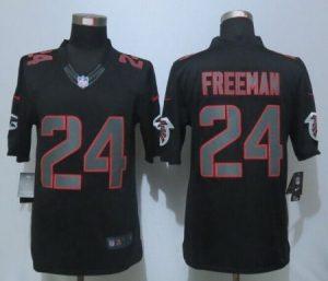 Atlanta Falcons 24 Freeman Impact New Nike Limited Black Jerseys