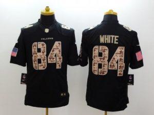 Atlanta Falcons 84 White Black Nike Salute TO Service Jerseys