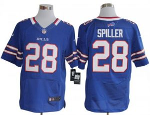 Buffalo Bills 28 Spiller Blue Nike Elite Jerseys