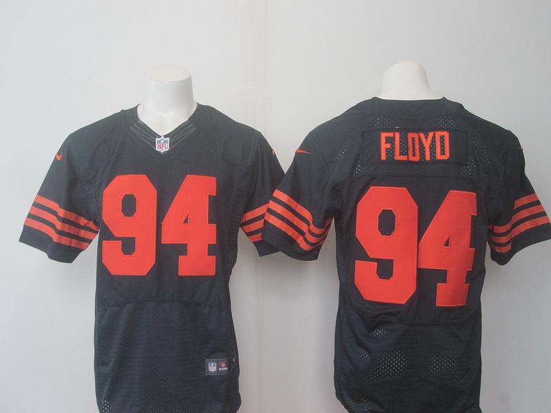 Chicago Bears 94 Floyd Blue Orange 2016 Nike Elite Jerseys