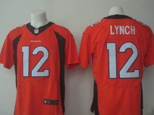 Denver Broncos 12 Lynch Orange 2016 Nike Elite Jerseys