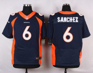 Denver Broncos 6 Sanchez Blue 2016 Nike Elite Jerseys