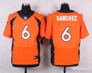 Denver Broncos 6 Sanchez Orange 2016 Nike Elite Jerseys