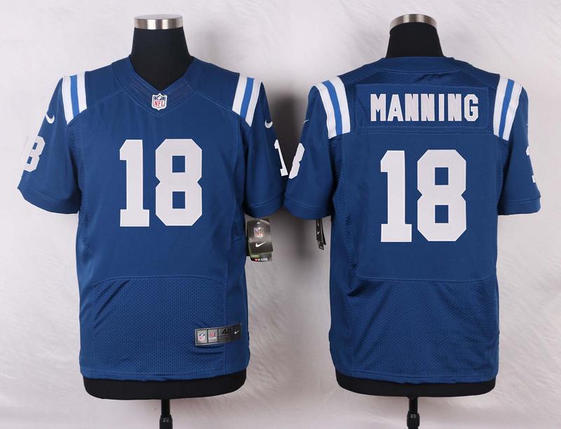 Indianapolis Colts 18 Manning Blue 2016 Nike Elite Jerseys