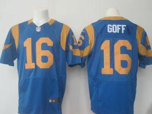 Los Angeles Rams 16 Goff Blue Throwback 2016 Nike Elite Jerseys