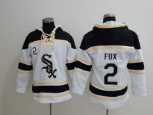 MLB Chicago White Sox 2 Fox white Lace Up Pullover Hooded Sweatshirt