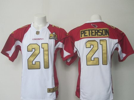 NFL Arizona Cardinals 21 Peterson white 50th Limited nike 2016 Jerseys