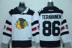 NHL Chicago Blackhawks 86 Teravainen White 2016 Jersey