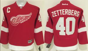 NHL Detroit Red Wings 40 Zetterberg Red Kids 2016 Jerseys