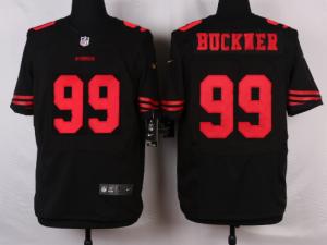 San Francisco 49ers 99 Buckner Black 2016 Nike Elite Jerseys