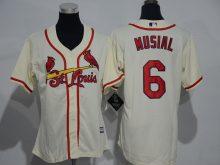 Womens 2017 MLB St. Louis Cardinals 6 Musial Gream Jerseys