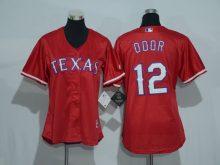 Womens 2017 MLB Texas Rangers 12 Odor Red Jerseys