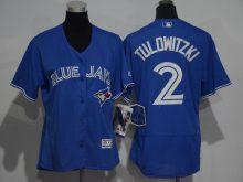 Womens 2017 MLB Toronto Blue Jays 2 Tulowitzki Blue Elite Jerseys