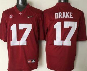 Youth 2016 NCAA Alabama Crimson Tide 17 Drake Red Jerseys
