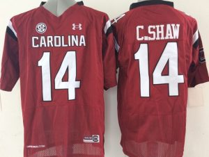 Youth 2016 NCAA South Carolina Gamecock 14 C.Shaw Red Jerseys