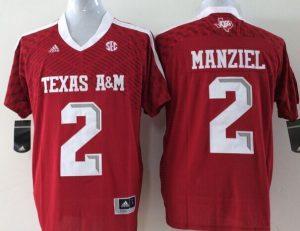 Youth 2016 NCAA Texas A&M Aggies 2 Manziel Red Jerseys