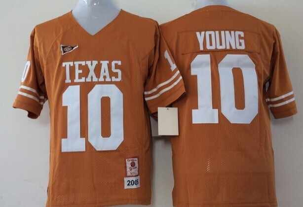Youth 2016 NCAA Texas Longhorns 10 Young Yellow Jerseys