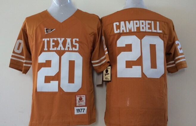 Youth 2016 NCAA Texas Longhorns 20 Campbell Yellow Jerseys