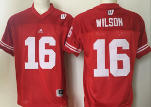 Youth 2016 NCAA Wisconsin Badgers 16 Wilson Red Jerseys