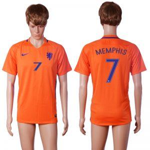 2016-2017 National Netherlands home 7 MEMPHIS Orange AAA+ soccer jerseys