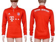 2016-2017 club Bayern Munich home long sleeve Blank Red AAA+Soccer Jersey