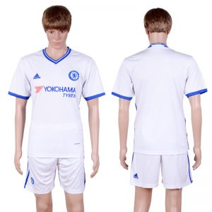 2016-2017 club Chelsea second away Blank White Soccer Jersey