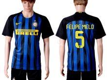 2016-2017 club Inter Milan home 5 Blue Soccer Jersey
