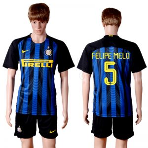 2016-2017 club Inter Milan home 5 Blue Soccer Jersey