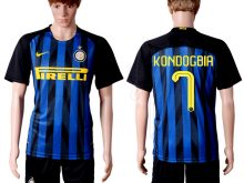 2016-2017 club Inter Milan home 7 Blue Soccer Jersey