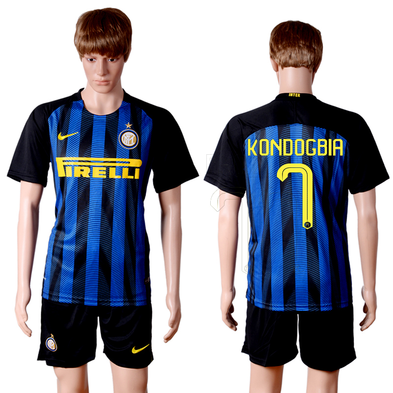 2016-2017 club Inter Milan home 7 Blue Soccer Jersey