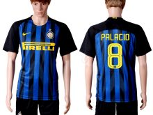 2016-2017 club Inter Milan home 8 Blue Soccer Jersey