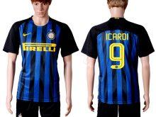 2016-2017 club Inter Milan home 9 Blue Soccer Jersey