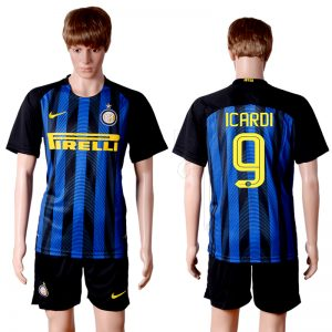 2016-2017 club Inter Milan home 9 Blue Soccer Jersey