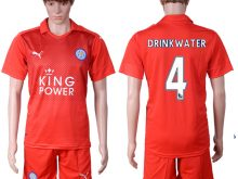 2016-2017 club Leicester City away 4 Red Soccer Jersey