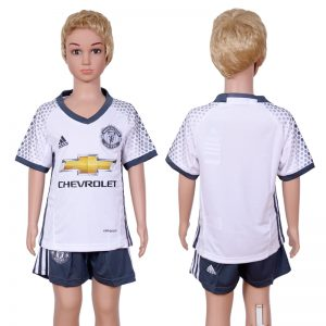 2016-2017 club Manchester United second away kids White Soccer Jersey