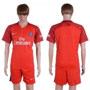 2016-2017 club Paris saint germain away Blnak Red Soccer Jersey