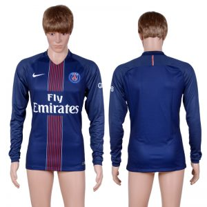 2016-2017 club Paris saint germain home long sleeve Blue AAA+Soccer Jersey