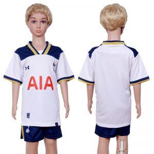 2016-2017 club Tottenham Hotspur home Kids White Soccer Jersey