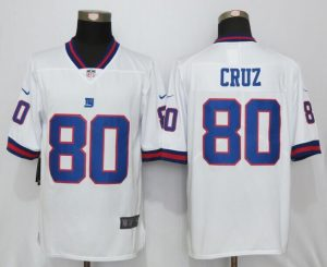 2016 New Nike New York Giants 80 Cruz Navy White Color Rush Limited Jersey