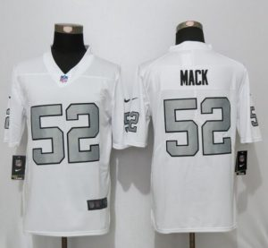 2016 New Nike Oakland Raiders 52 Mack Navy White Color Rush Limited Jersey