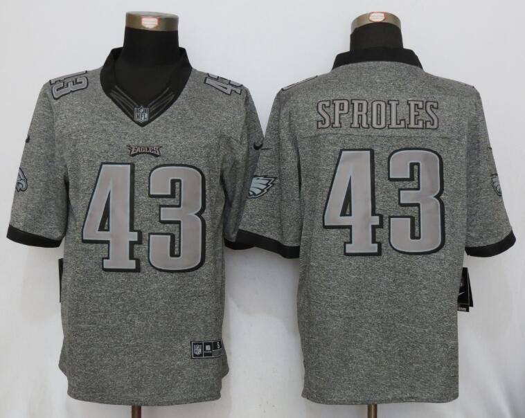 2016 New Nike Philadelphia Eagles 43 Sproles Gray Men's Stitched Gridiron Gray Limited Jersey