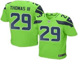 2016 Nike Seahawks 29 Earl Thomas III Green Men Stitched NFL Elite Rush Jersey
