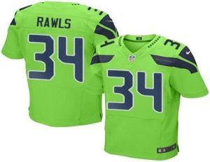 2016 Nike Seahawks 34 Thomas Rawls Green Men Stitched NFL Elite Rush Jersey