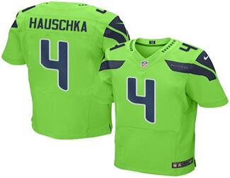 2016 Nike Seahawks 4 Steven Hauschka Green Men Stitched NFL Elite Rush Jersey