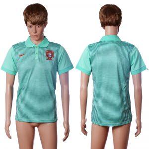 2016 Portugal away polo shirt blue AAA+ soccer jerseys