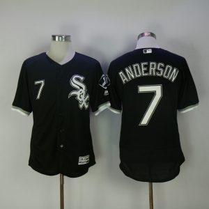 2017 MLB Chicago White Sox 7 Anderson Black Elite Jerseys